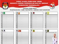 Download Contoh Surat Suara Pemilu 2019.cdr