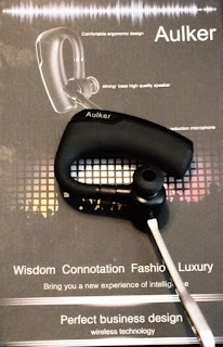 K-6 Black Mono Over-the-Ear Bluetooth Headset