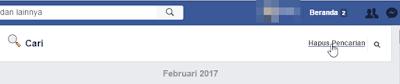 Menghapus History Pencarian Facebook
