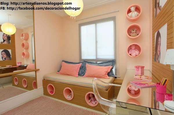 Habitaciones de ni as dise os Disenos de dormitorios para ninas