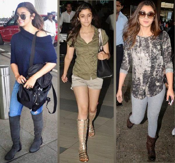 Alia bhatt travel fashionably