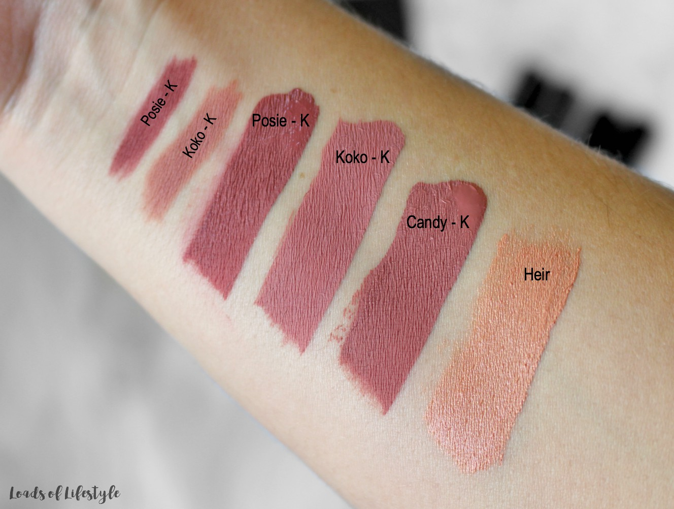 Fabuleux Quick Swatch: Kylie Cosmetics - Loads of Lifestyle WO98