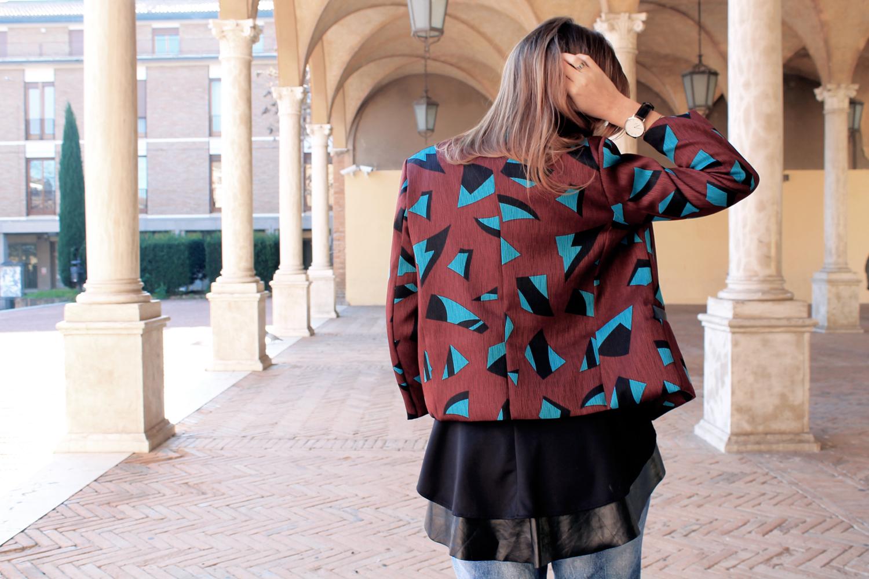 giacca con disegni geometrici goagoa