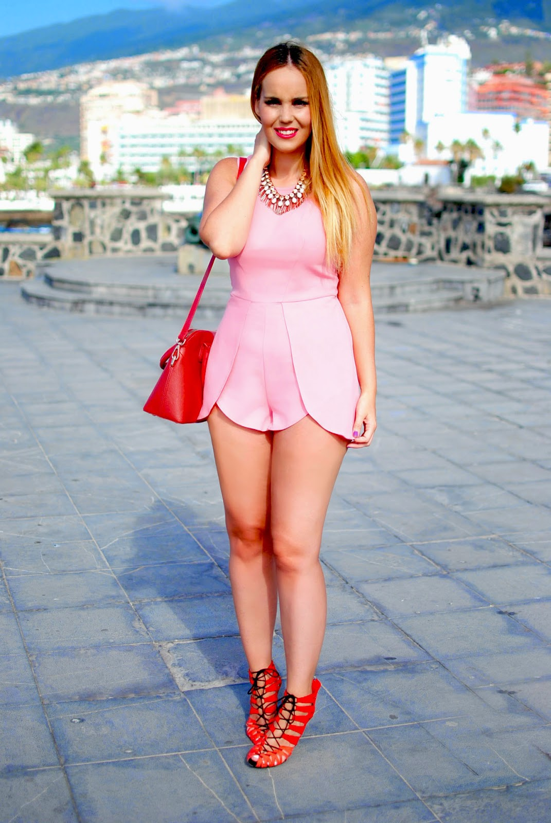 nery hdez, blonde, inlovewithfashion , in love with fashion playsuit, mono corto, ottaviani bujoux