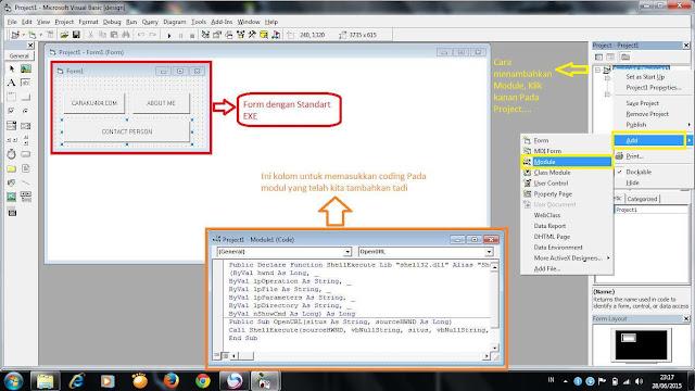 Cara Membuat Command VB6 terbuka di Browser