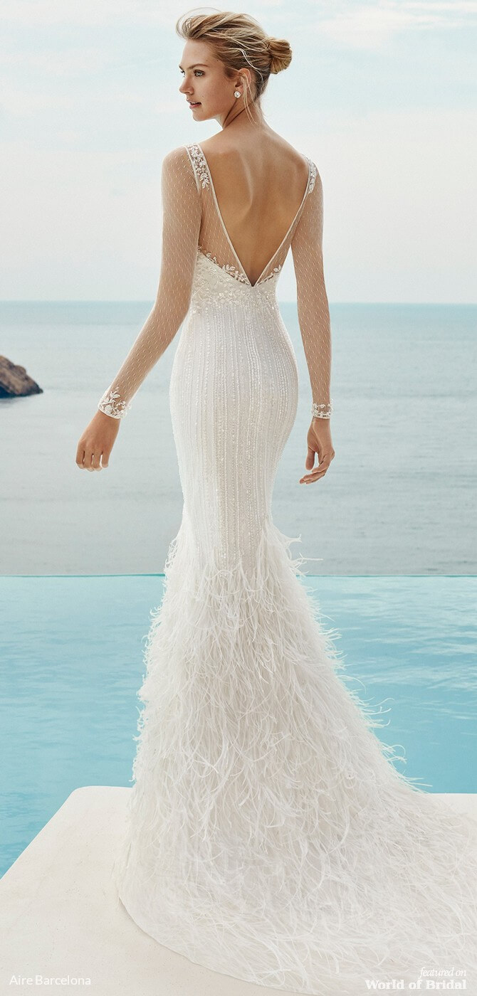 Aire Barcelona 2019 Beach Wedding Dresses World Of Bridal