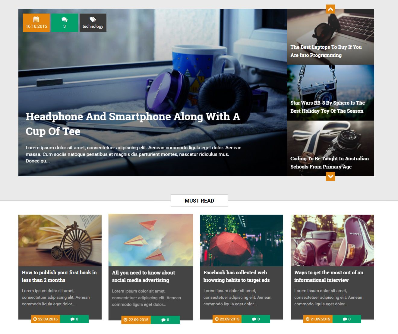 Visualartzi Amazingly Responsive Free Blogger Templates - Timeline blogger template
