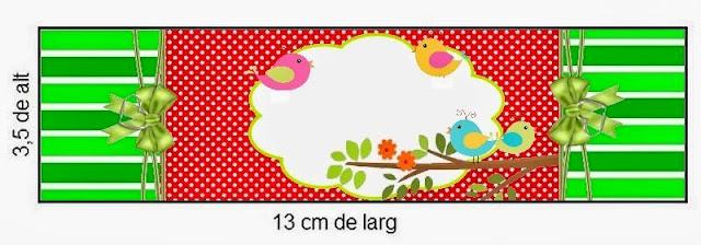 Etiquetas para imprimir gratis de Pajaritos de Colores.