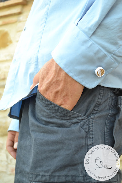 gioielli in carta realizzati a mano per uomo