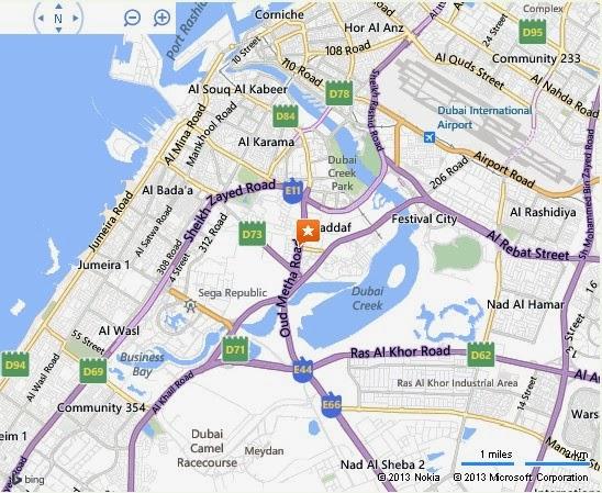 UAE Dubai Metro City Streets Hotels Airport Travel Map Info: Detail Emirates Kart Zone Dubai ...