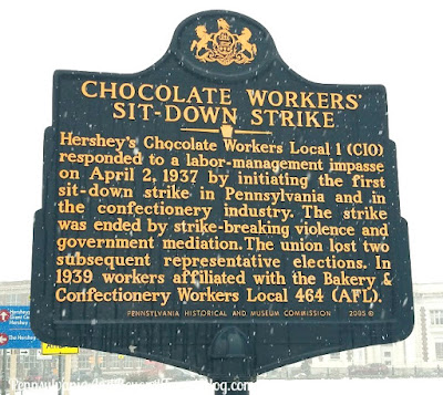 Chocolate Workers Sit-Down Strike Historical Marker in Hershey