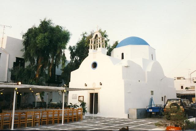 Kyrka på Mykonos