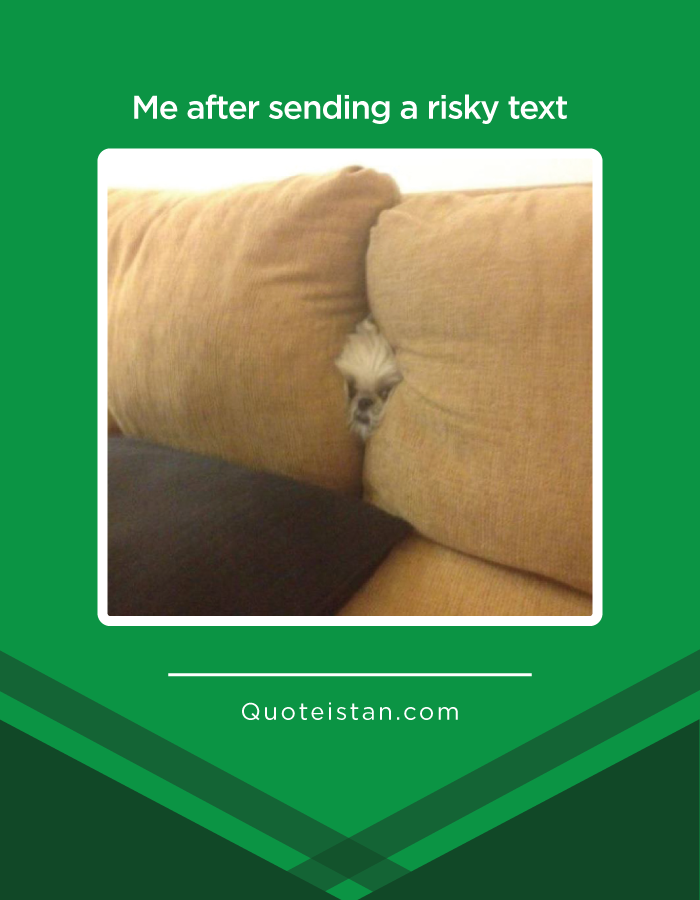 Me after sending a risky text