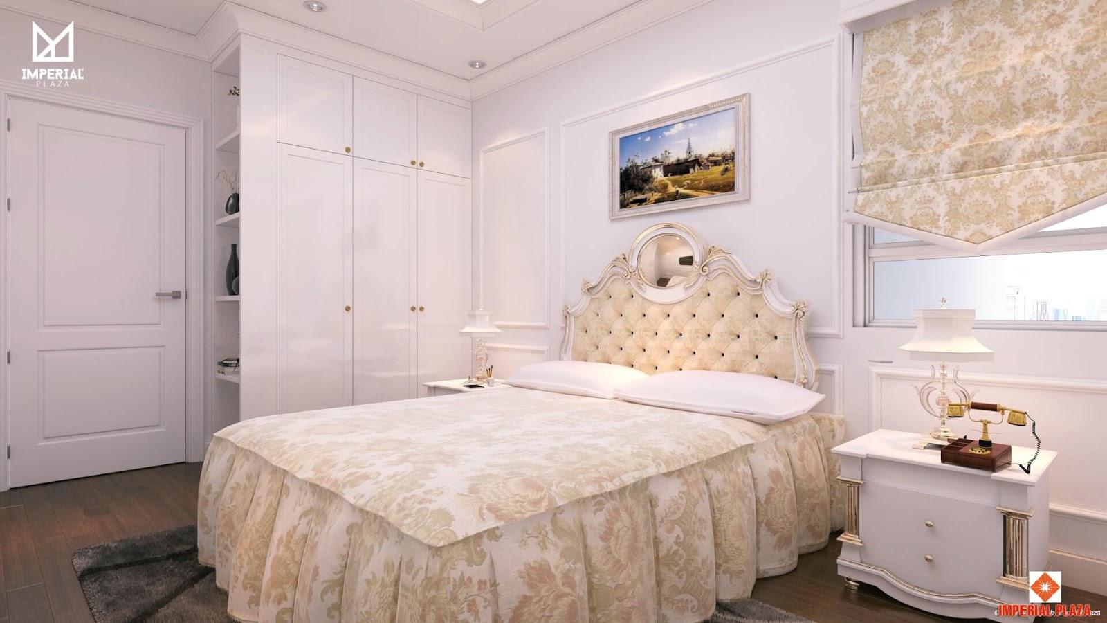 Phòng ngủ căn hộ mẫu dự án Imperial Plaza 360 Giải Phóng