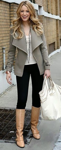 Women's Fashion Neutral boots and jacket