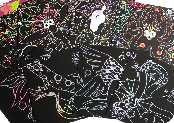 Cartes à gratter brillantes - Marie-Rose Boisson - Gründ