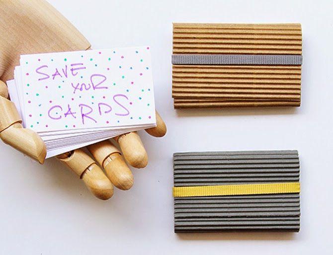 DIY protector tarjetas visita