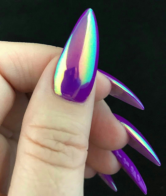 Metallic nail arts
