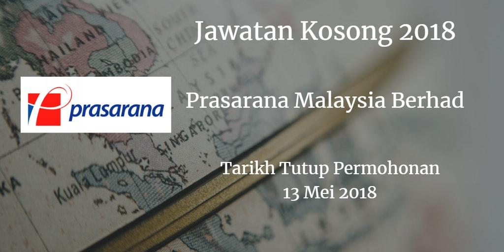 Jawatan Kosong Prasarana Malaysia Berhad 13 Mei 2018