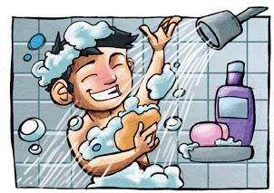 Adolescente antes y después de la ducha 2 8