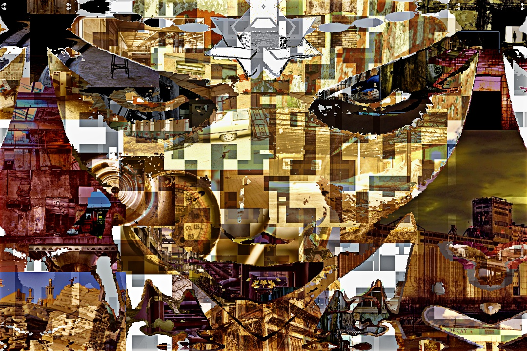 Automatic Photo Collage Of A Manipulated Facial Image Using A Folder Or Ruins Porn Imagery If You Dont Know What Ruins Porn Is Heres A Link