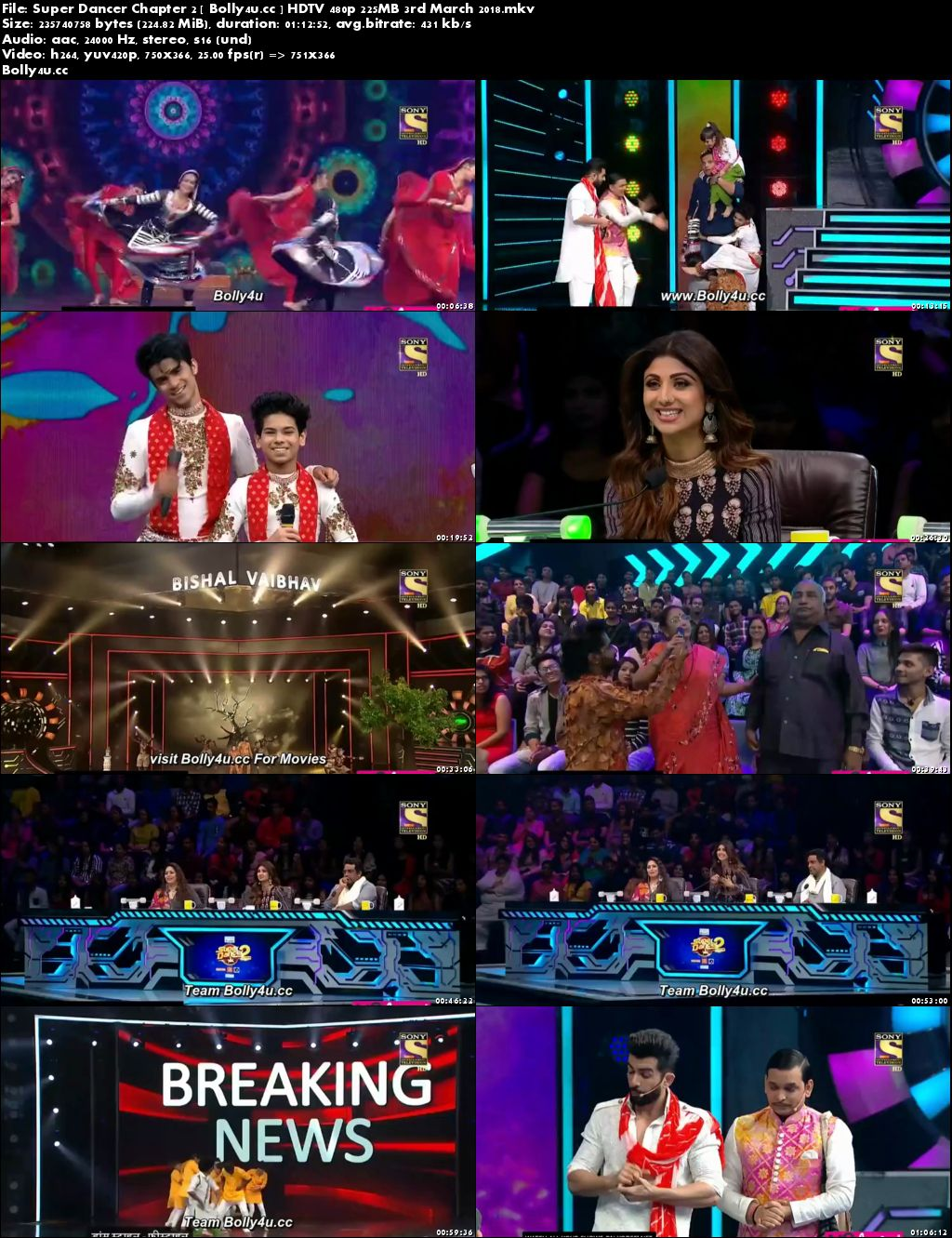 Super Dancer Chapter 2 HDTV 480p 200MB 03 March 2018 Download