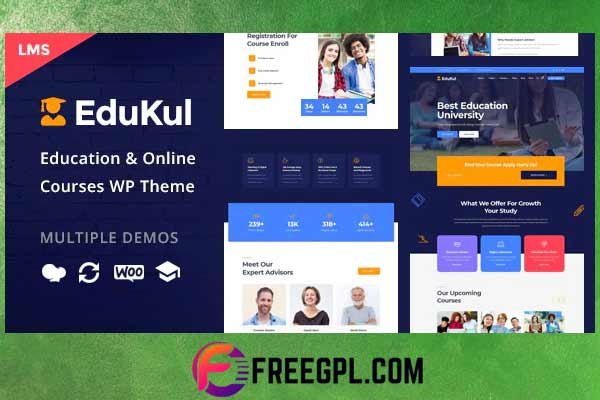 Edukul - Online Courses WordPress Theme Nulled Download Free