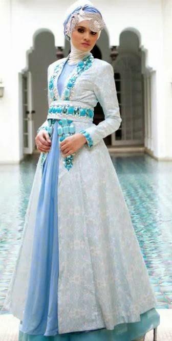 Baju pengantin muslimah dian pelangi
