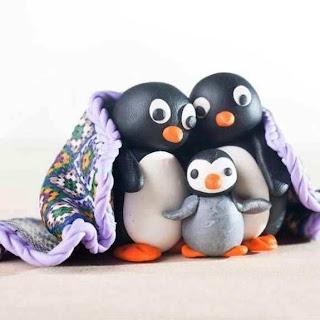 Cara Membuat Kerajinan Tangan Untuk Anak SD, Pinguin Dari Plastisin