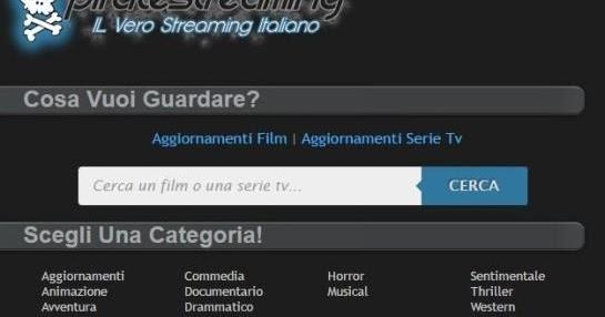 Ecco uno dei migliori siti per vedere un film in streaming; Piratestraming il vero Streaming Italiano!