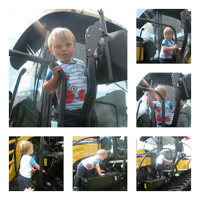 Toddler and Tractor