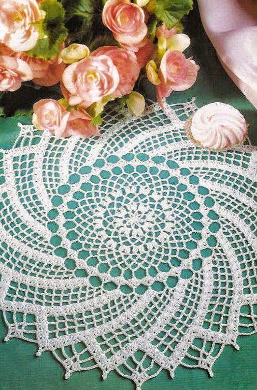 Patrones de fina carpeta tejida con ganchillo  Todo crochet