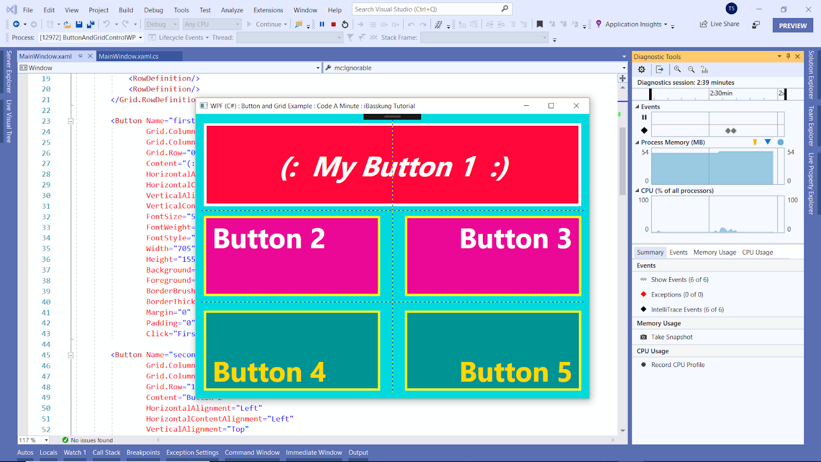 Visual Studio 2019 (WPF C# Source Code & XAML) Using the