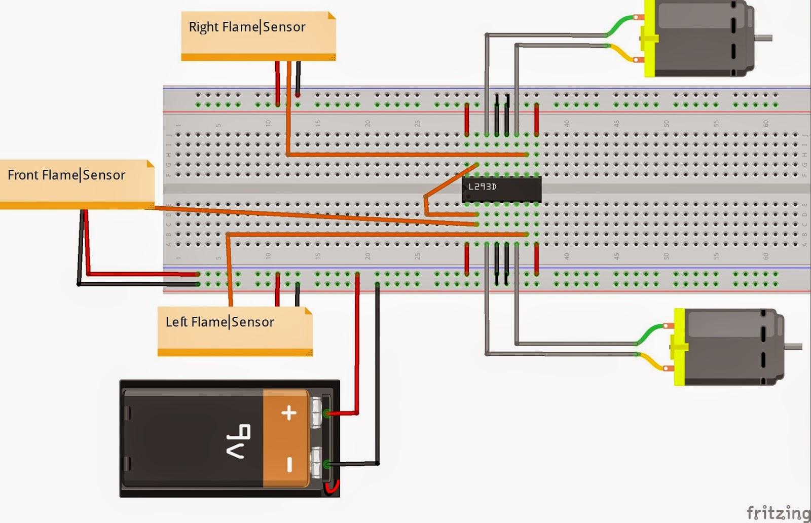 L293d Motor Driver Circuit Diagram Sony Xplod 52wx4 Stereo Wiring Pin Of Impremedia