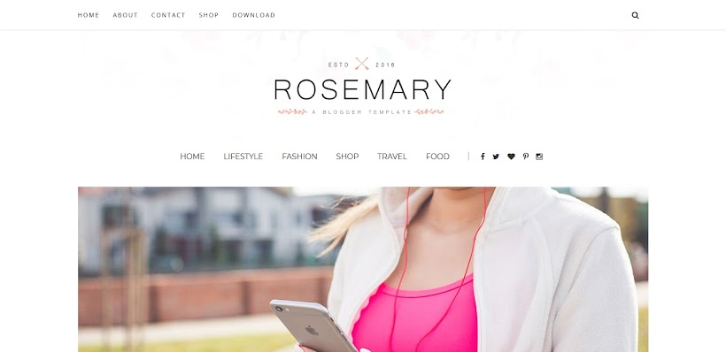Rosemary Free Blogger Template