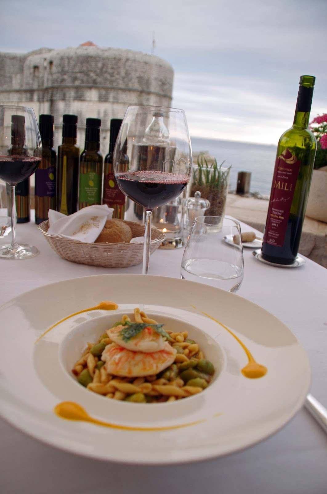 Lobster Tail Main Course at Nautika Restaurant Dubrovnik