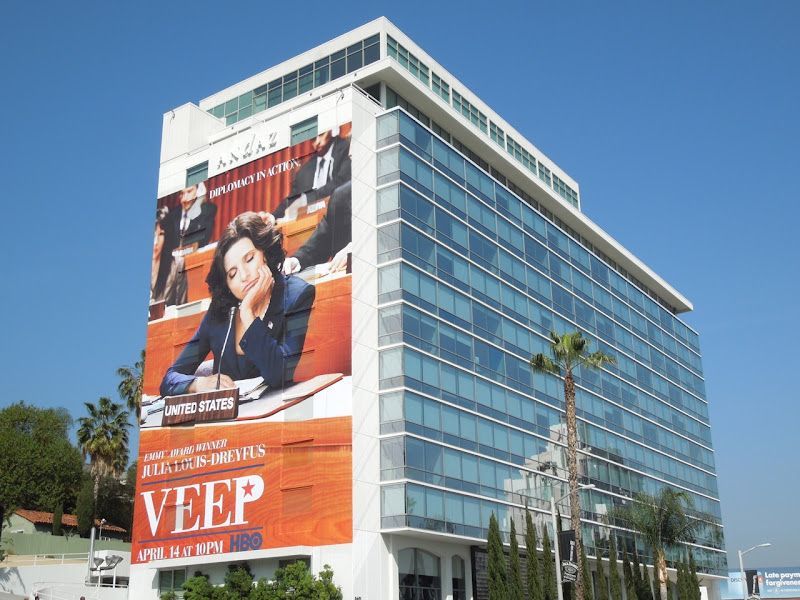 Giant Veep season 2 billboard