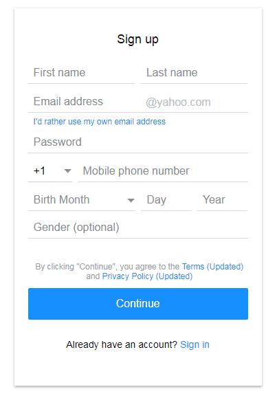 Isi data diri lengkap sebelum membuat email