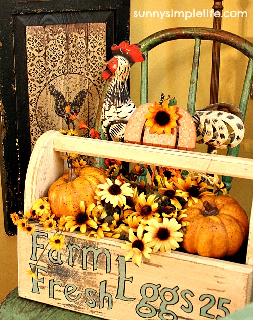 farmhouse fall decorating