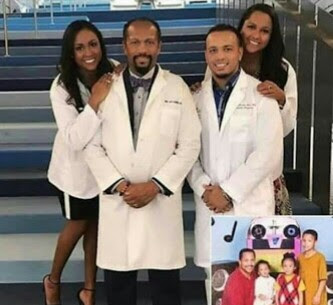 See Father With His 3 Children Who Are All Medical Doctors
