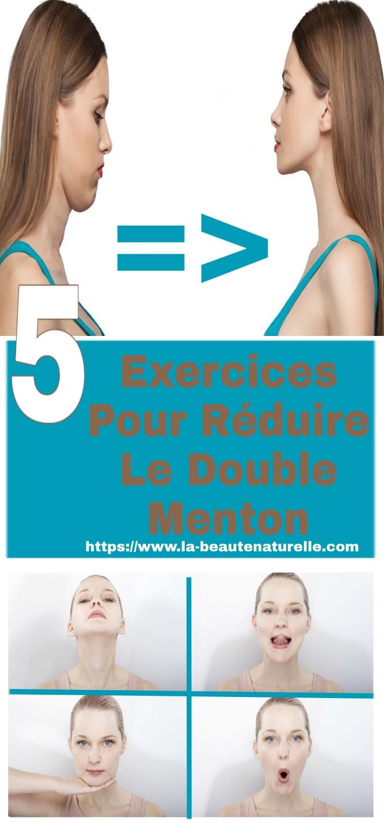 5 Exercices Pour Réduire Le Double Menton