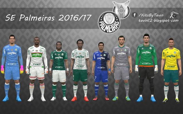 PES 2017 SE Palmeiras 2016-2017 Kits by Tavin