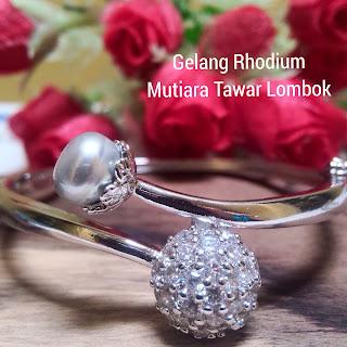Harga Gelang Rhodium Mutiara Lombok Murah Grosir