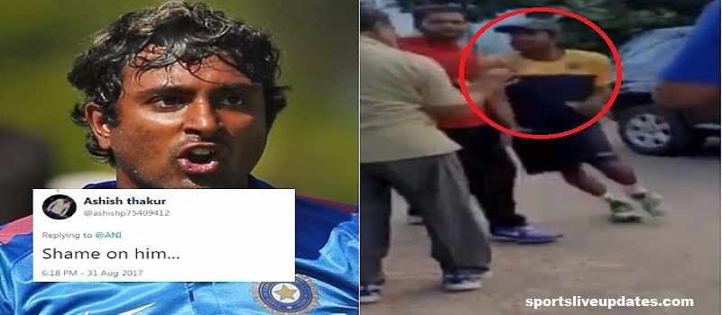 Indian Cricketer Fight Elderly on Middle Road, Video Viral