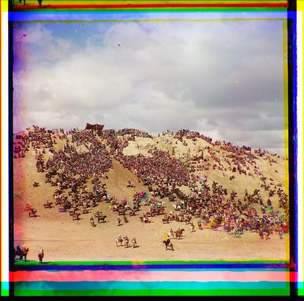 Bayga (rassemblement équestre) aux environs de Samarkand-janvier 1907