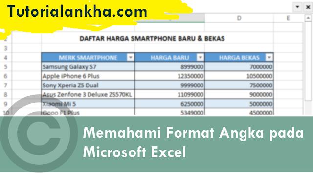 Memahami Format Angka pada Microsoft Excel