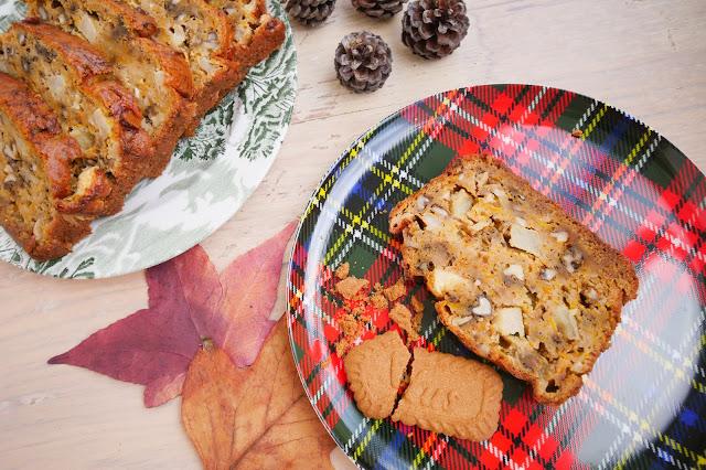 cake d'automne potimarron noix pommes
