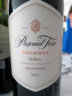 Pascual Toso Reserve Malbec 2013 - Barrancas Vineyards, Mendoza, Argentina (89 Pts)