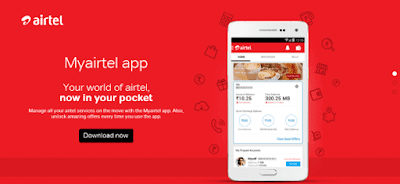 How to check airtel data balance using MyAirtel app
