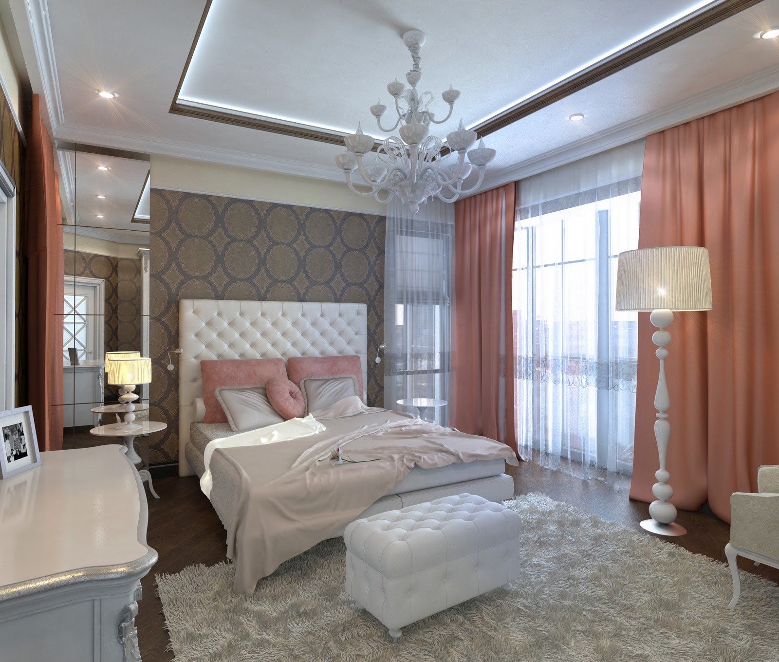 3d design bedroom art deco for Bedroom decoration images